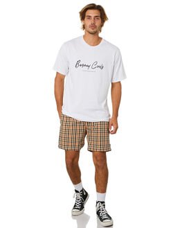 WHITE MENS CLOTHING BARNEY COOLS TEES - 121-Q120WHT