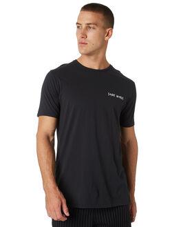 SMOKEY BLACK MENS CLOTHING ZANEROBE TEES - 110-WORD-SMBLK
