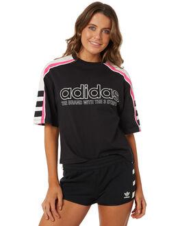 BLACK WOMENS CLOTHING ADIDAS ORIGINALS TEES - DH4183095A