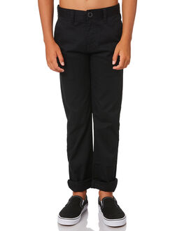 BLACK KIDS BOYS VOLCOM PANTS - C1111601BLK
