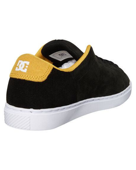 BLACK YELLOW MENS FOOTWEAR DC SHOES SNEAKERS - ADYS100415BY0