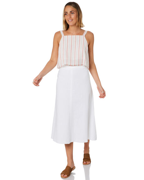 WHITE WOMENS CLOTHING NUDE LUCY SKIRTS - NU23792WHT