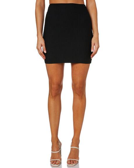 BLACK WOMENS CLOTHING SNDYS SKIRTS - SFSK105BLK