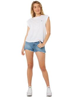 WHITE WOMENS CLOTHING LEE TEES - L-651076-060WHT