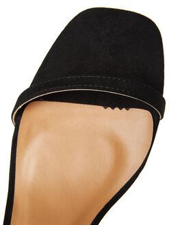 BLACK SUEDE WOMENS FOOTWEAR THERAPY HEELS - SOLE-6122BLK