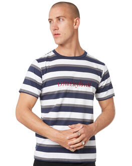 NAVY GREY WHITE MENS CLOTHING LOWER TEES - LO19Q3MTS17NGW