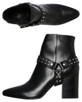 BLACK WOMENS FOOTWEAR SOL SANA BOOTS - SS192W429BLK