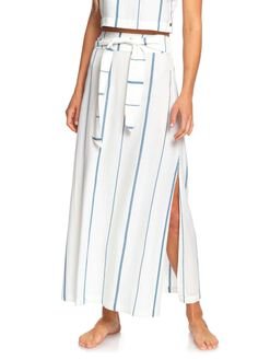 SNOW WHITE STRIPE WOMENS CLOTHING ROXY SKIRTS - ERJWK03070-WBK4