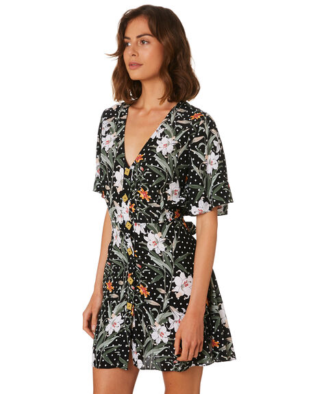 PARADISE FLORAL DA WOMENS CLOTHING MLM LABEL DRESSES - MLM504D-PAR