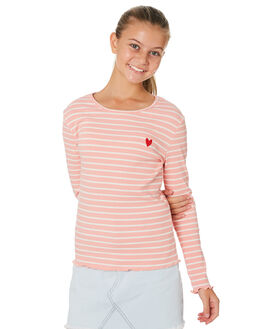 PINK WHITE STRIPE KIDS GIRLS EVES SISTER TOPS - 9530019STR