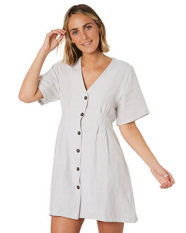 DIRTY WHITE WOMENS CLOTHING THRILLS DRESSES - WTS9-909ADWHT
