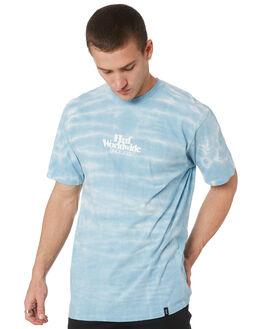BLUE MENS CLOTHING HUF TEES - TS00712-BLU
