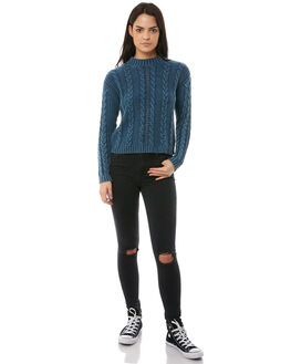 MIDNIGHT GREEN WOMENS CLOTHING VOLCOM KNITS + CARDIGANS - B0711877MID_GRGEEN