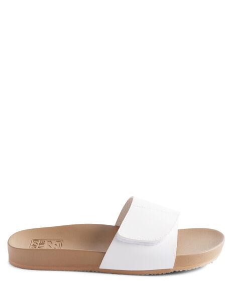 WHITE WOMENS FOOTWEAR BILLABONG SLIDES - BB-6617828-WHT