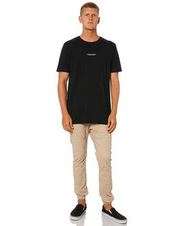BLACK MENS CLOTHING ZANEROBE TEES - 108-METBLK