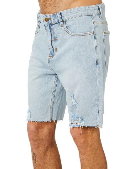 TIME WORN BLUE MENS CLOTHING THRILLS SHORTS - TDP-319ETWTMWBL