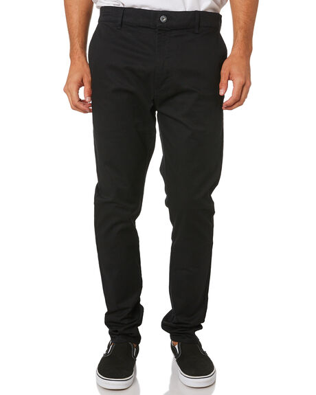 BLACK MENS CLOTHING ZANEROBE PANTS - 701-LYKMIBLK