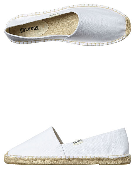 WHITE WOMENS FOOTWEAR SOLUDOS FLATS - FOR1001-100