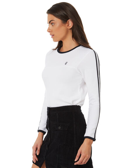 BRIGHT WHITE WOMENS CLOTHING ELEMENT TEES - 283051WHT