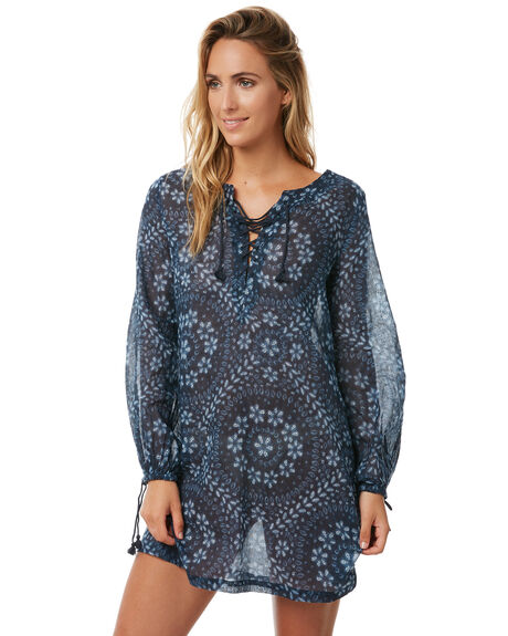 INDIGO WOMENS CLOTHING TIGERLILY FASHION TOPS - T372424IND
