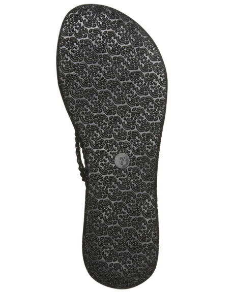 BLACK WOMENS FOOTWEAR RUSTY THONGS - FOL0268BLK