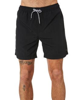 BLACK MENS CLOTHING GLOBE SHORTS - GB01518019BLK