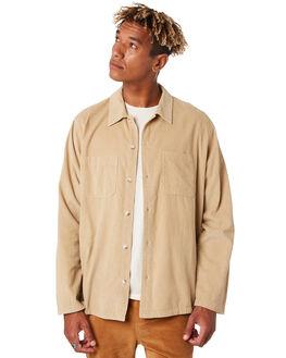 TAN CORDUROY MENS CLOTHING MOLLUSK SHIRTS - MS1767TAN