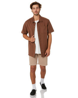 BISON BROWN MENS CLOTHING DEPACTUS SHIRTS - D5202171BSNBR