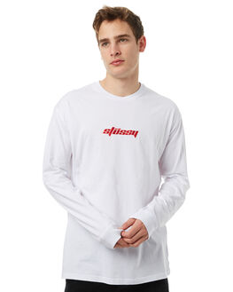 SOLID WHITE MENS CLOTHING STUSSY TEES - ST071027SWHT