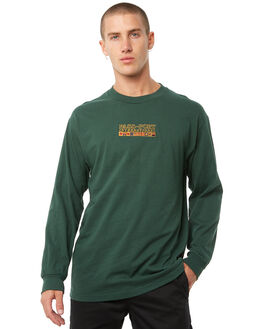FOREST GREEN MENS CLOTHING PASS PORT TEES - R23INTLSFGRN