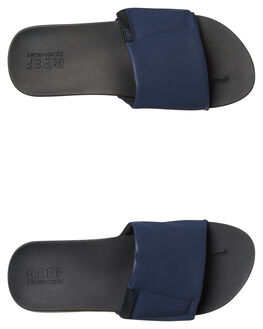 BLACK NAVY MENS FOOTWEAR REEF SLIDES - A3OL5BVY
