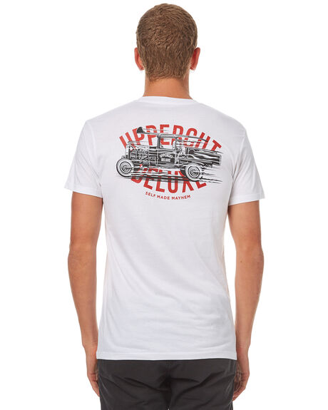 WHITE BLACK MENS CLOTHING UPPERCUT TEES - UPDTS0554WHTBK