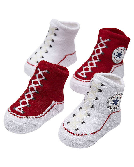 68749bb1c3cadd Converse Baby Chuck Taylor Knit Booties - Red