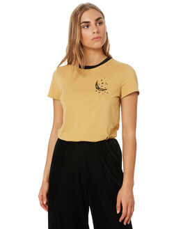 VINTAGE GOLD WOMENS CLOTHING VOLCOM TEES - B3541901VGD