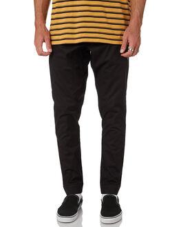 BLACK MENS CLOTHING RVCA PANTS - R381276BLK