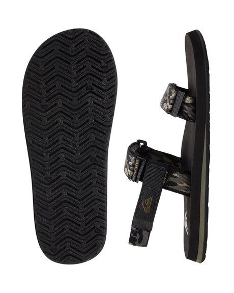 GREEN/BLACK/GREEN MENS FOOTWEAR QUIKSILVER THONGS - AQYL100748-XGKG