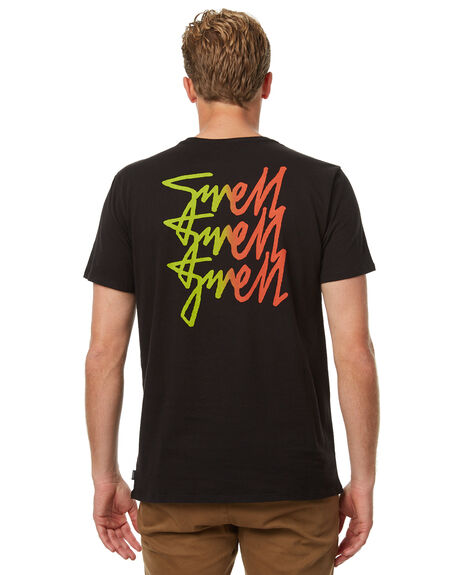 BLACK MENS CLOTHING SWELL TEES - S5174007BLK