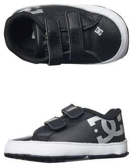 BLACK SILVER KIDS TODDLER BOYS DC SHOES FOOTWEAR - 320039BS2
