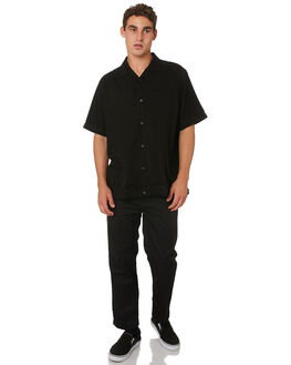 BLACK MENS CLOTHING GLOBE SHIRTS - GB01824001BLK