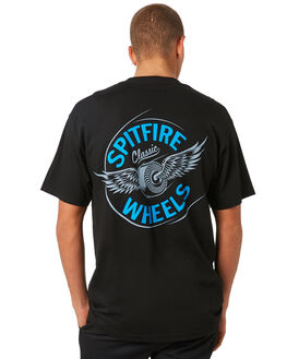 BLACK MENS CLOTHING SPITFIRE TEES - 51010155LBLK