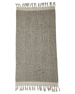 BLACK WHITE WOMENS ACCESSORIES MAYDE TOWELS - S13SUCRESBLK