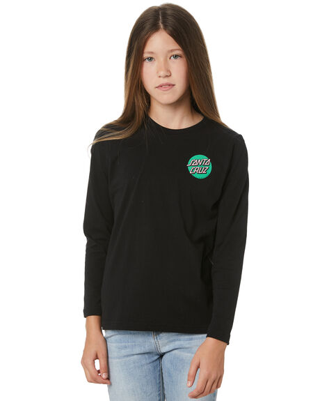 BLACK KIDS GIRLS SANTA CRUZ TOPS - SC-GLC1480BLK