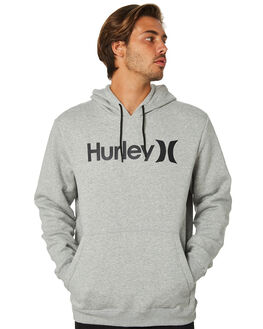 GREY HEATHER BLACK MENS CLOTHING HURLEY JUMPERS - AQ0773065