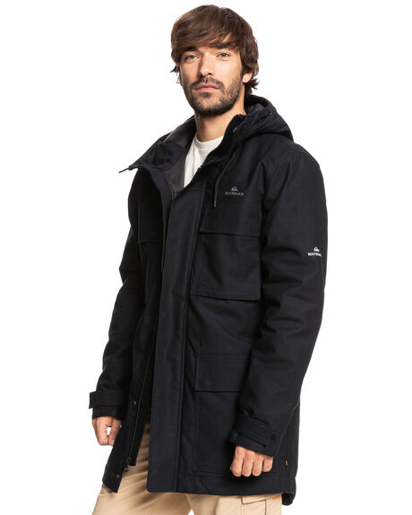 BLACK MENS CLOTHING QUIKSILVER JACKETS - EQMJK03060-KVJ0