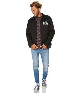 BLACK MENS CLOTHING DEUS EX MACHINA JACKETS - DMW65124BLK