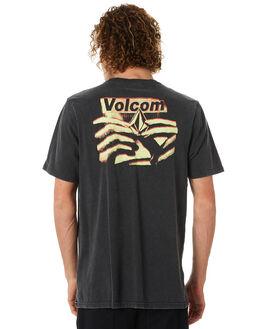 BLACK MENS CLOTHING VOLCOM TEES - A4311872BLK