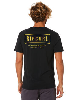 WASHED BLACK MENS CLOTHING RIP CURL TEES - CTEJF98264
