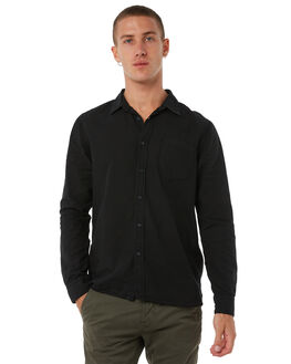 BLACK MENS CLOTHING NUDIE JEANS CO SHIRTS - 140426B01