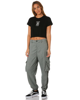 BLACK WOMENS CLOTHING STUSSY TEES - ST196005BLK