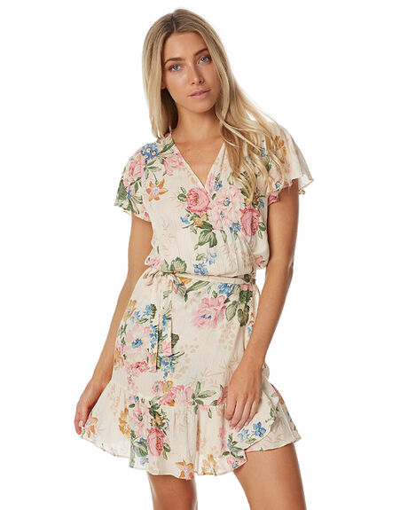 DELILAH BLOOM NATURAL WOMENS CLOTHING AUGUSTE DRESSES - AUG-HN1-17131-DBN